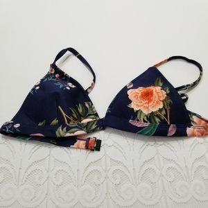 Triangl S+ Navy floral bikini top